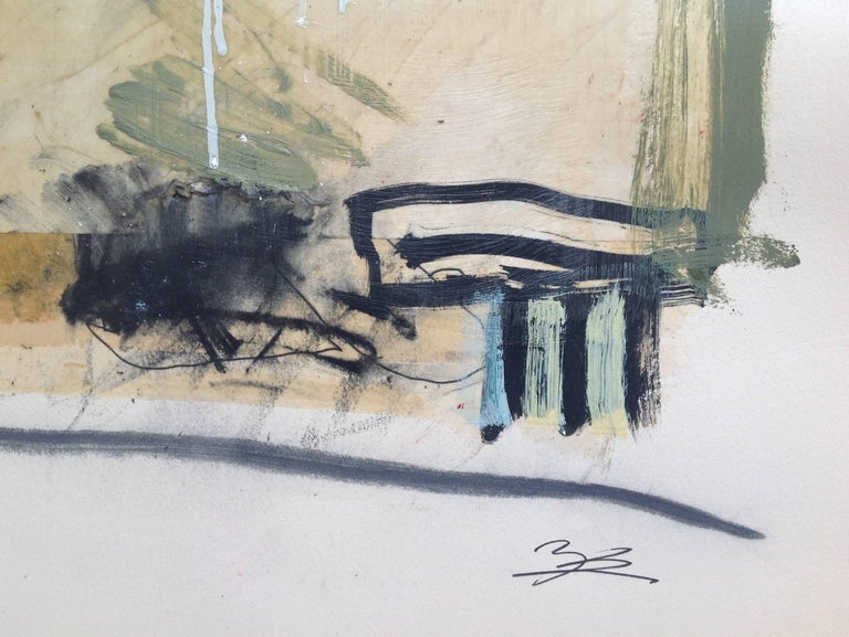 """According to Lange, he started his work with """"concrete visions"""" and actually began several paintings at one time. He tried to allow some form of synchronicity to determine his next decision. As the artist said, """"I make marks for the sake of"""
