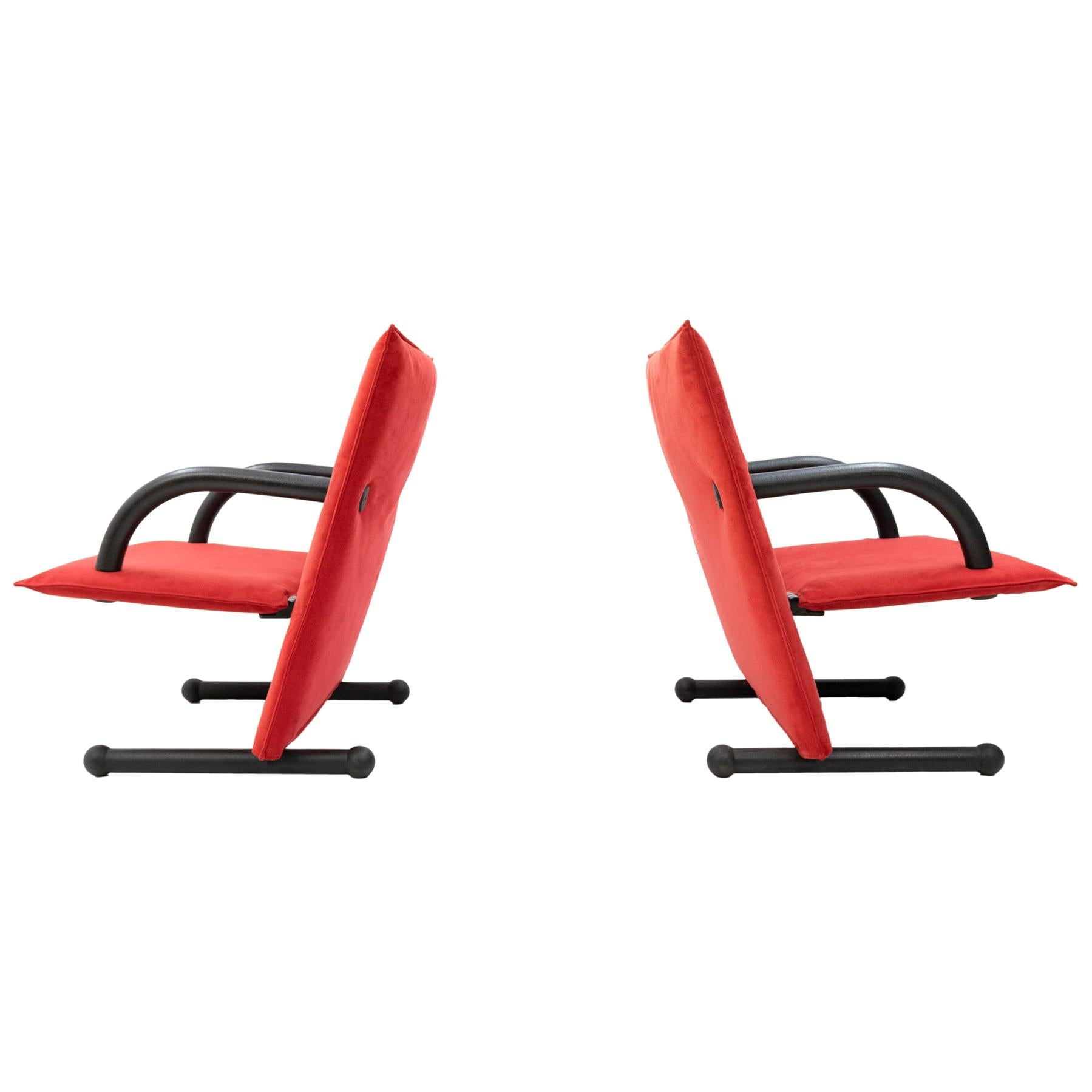 T Line Lounge Chairs Arflex, 1980s