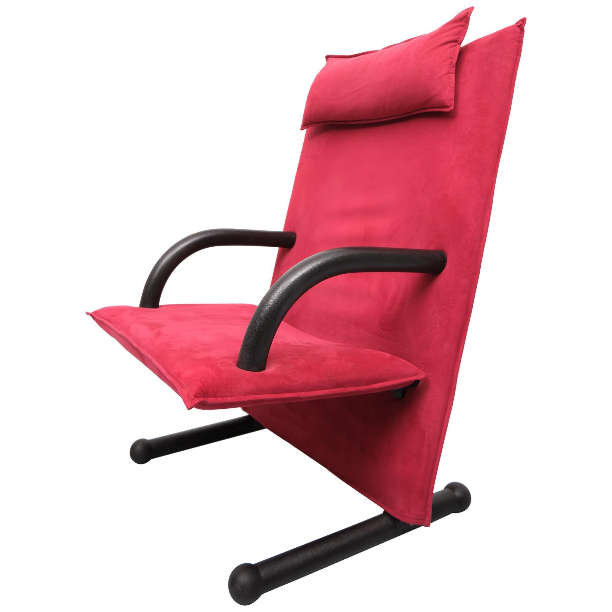 T Line Postmodern Arm Chair Arflex, 1980s