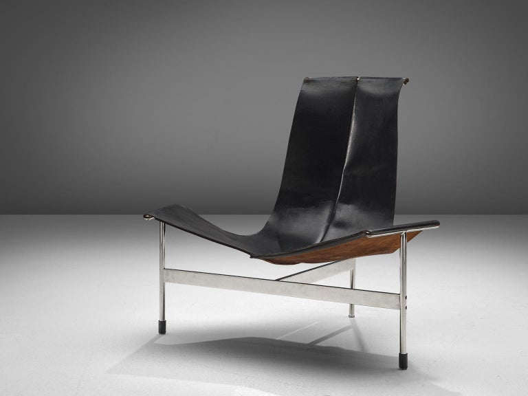 T Lounge Chair by Katavolos, Littell, & Kelley for Laverne International, United Stated, 1952.  In 1952, William Katavolos designed, together with Douglas Kelley & Ross Littell, the iconic sling-back T chair as model 3LC in Laverne International's