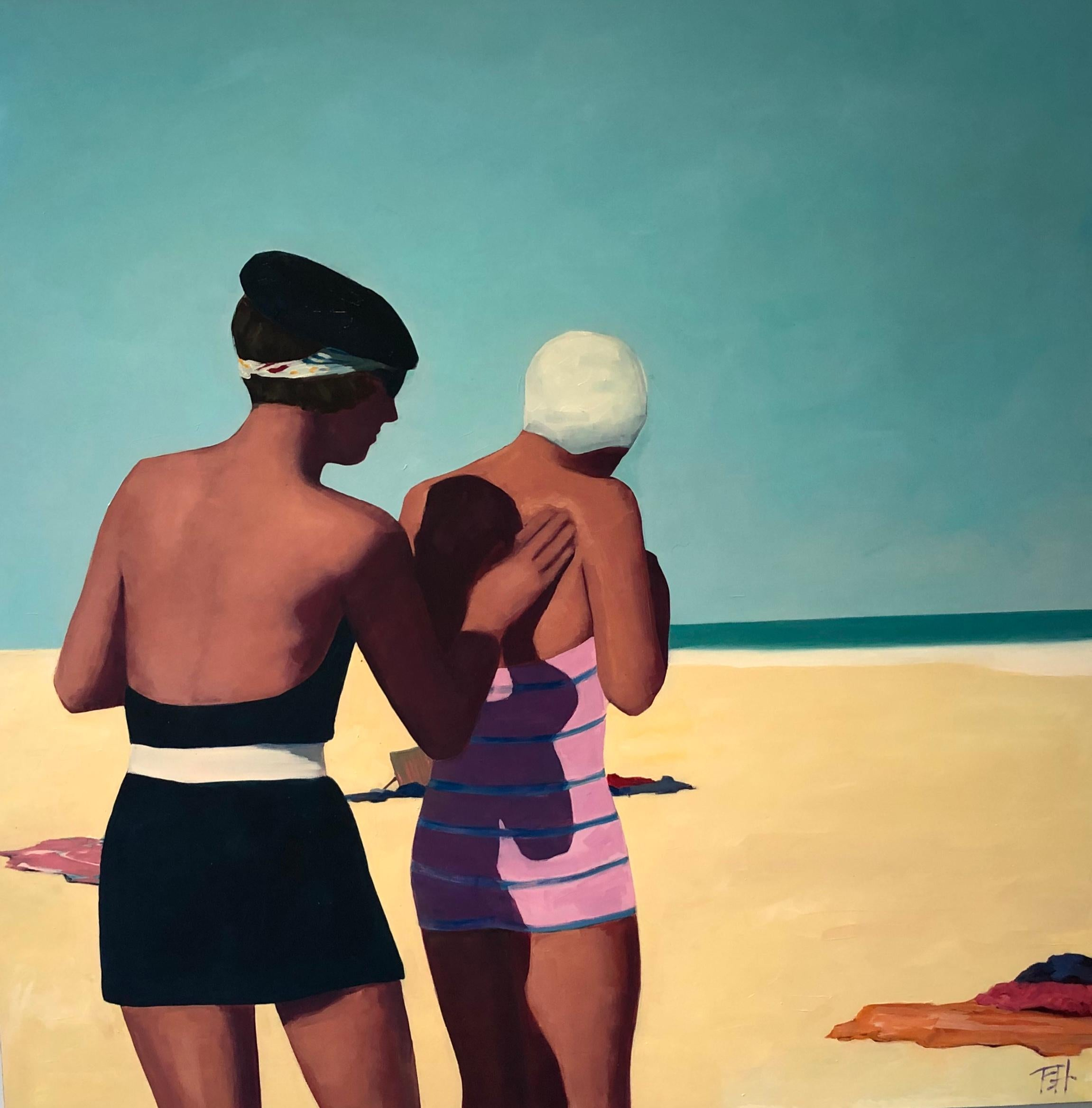 Beach Beret, oil painting by TS Harris