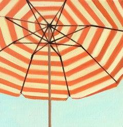 Orange and White Striped Umbrella