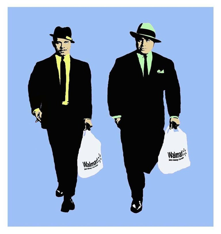 T.Wat Figurative Painting - Corporate Gangsters USA Version