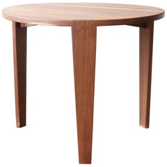 T08 Round Dining Table, Handcrafted in Solid Walnut