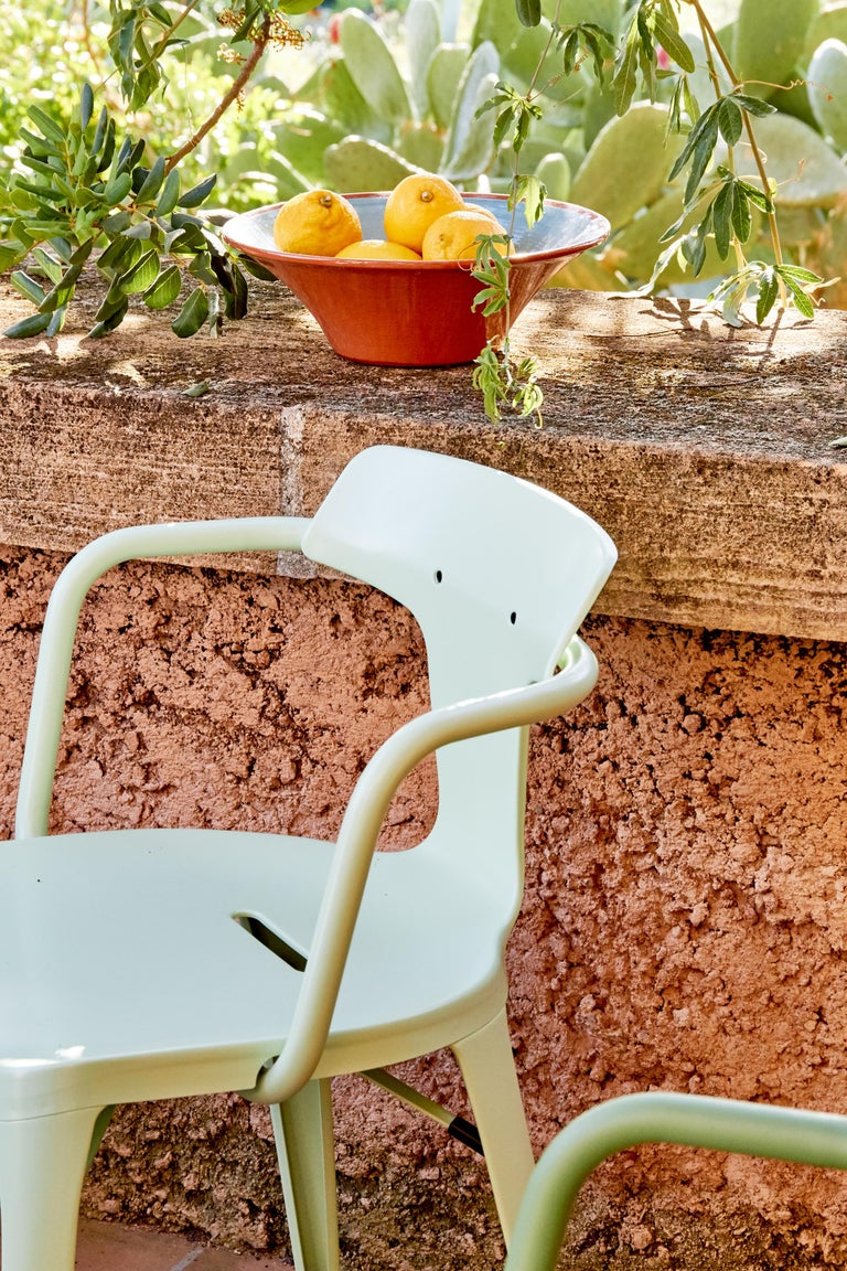 T14 Chair in Coral by Patrick Norguet and Tolix For Sale 4