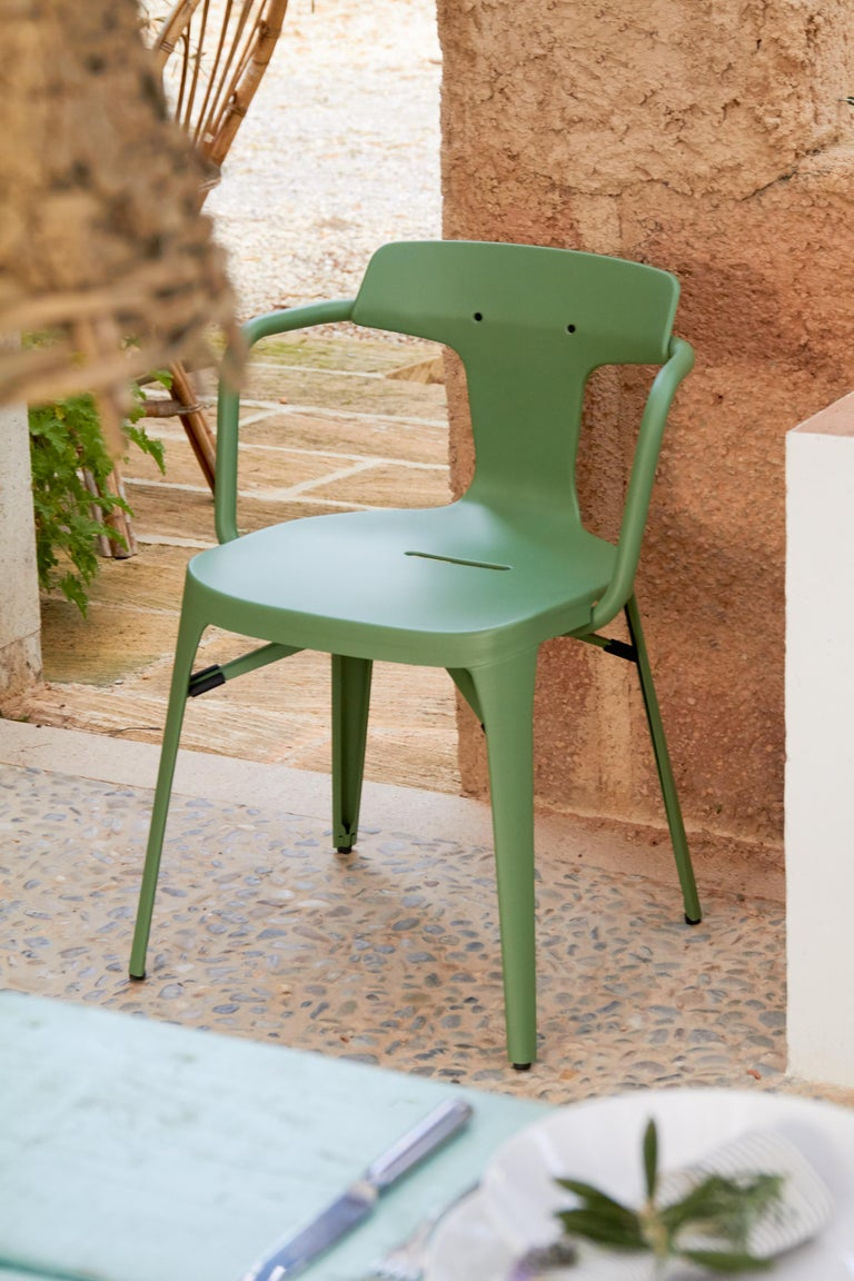 T14 Chair in Coral by Patrick Norguet and Tolix For Sale 7