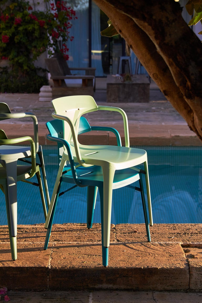 Contemporary T14 Chair in Coral by Patrick Norguet and Tolix For Sale