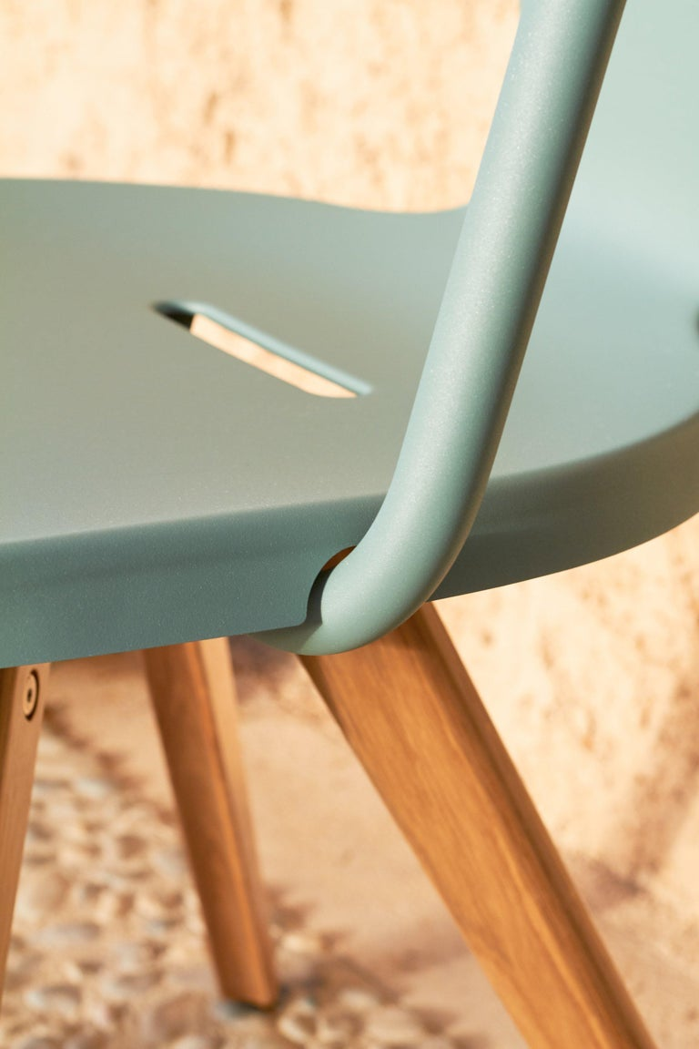Steel T14 Chair in Essential Colors by Patrick Norguet and Tolix For Sale