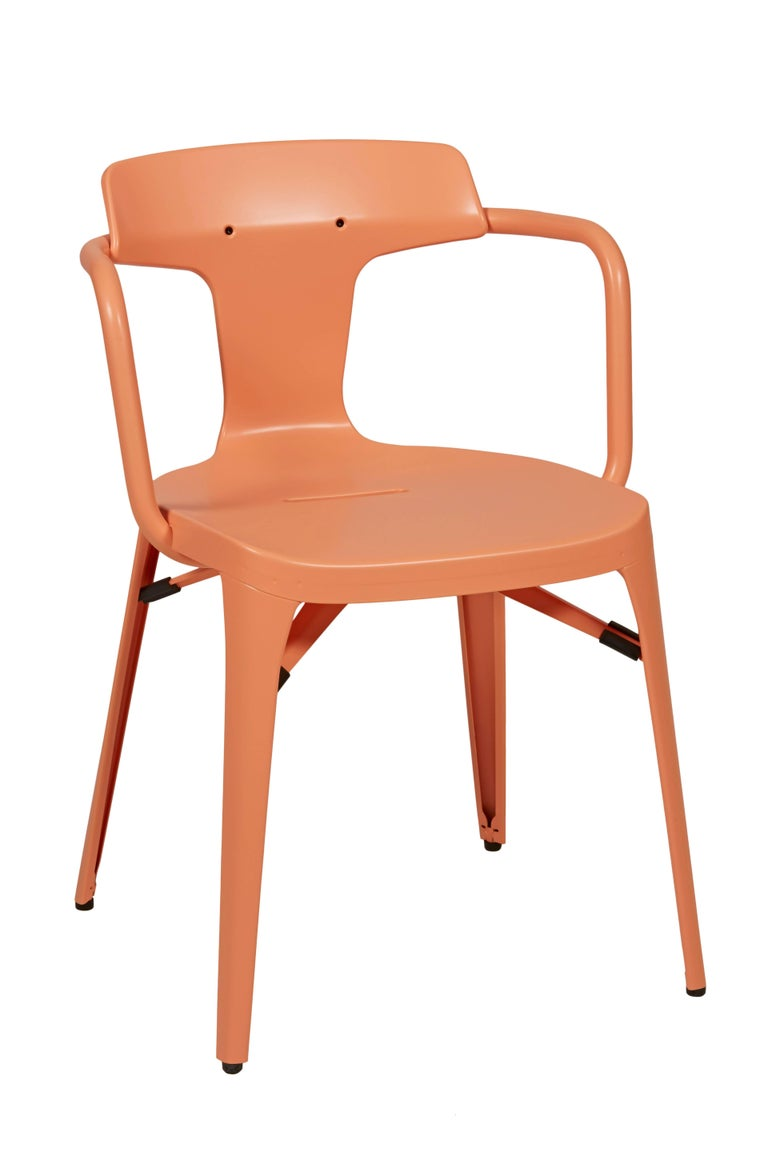 Modern T14 Chair in Flamingo Pink by Patrick Norguet and Tolix For Sale
