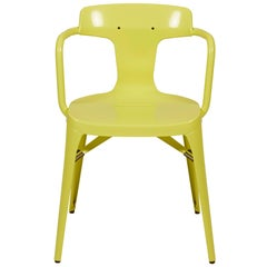 T14 Chair in Pastel Yellow by Patrick Norguet and Tolix