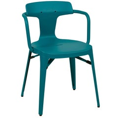 T14 Chair in Teal by Patrick Norguet and Tolix
