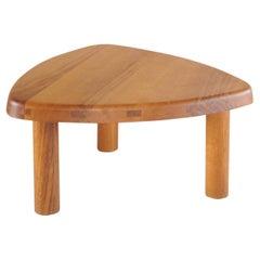 T23A Arrondie Basse Side Table by Pierre Chapo, France