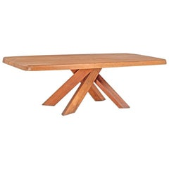 T35D Large Dining Table for 12 Persons by Pierre Chapo, France