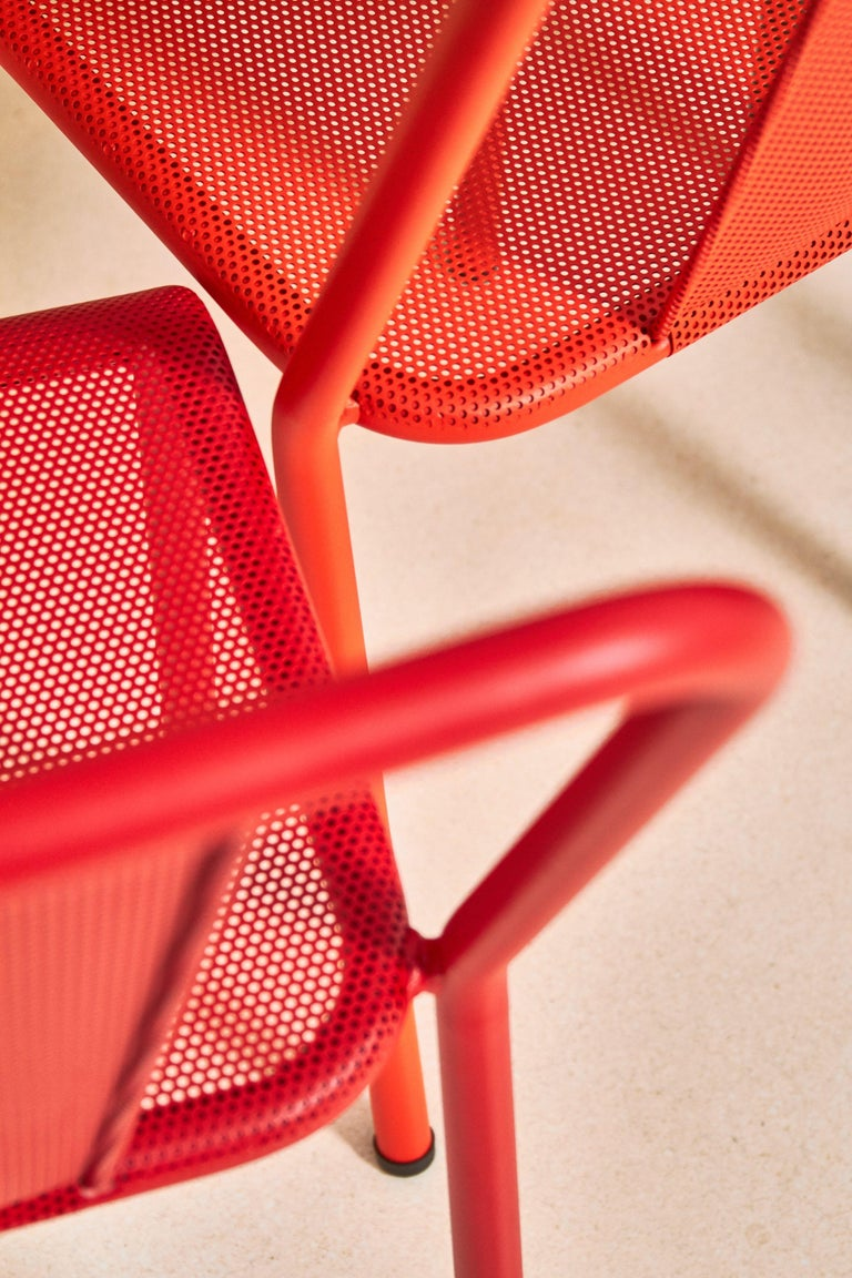 T37 Chair Perforated in Pop Colors by Xavier Pauchard and Tolix In New Condition For Sale In Autun, FR