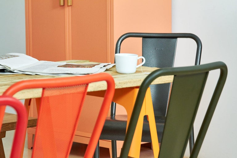 Contemporary T37 Chair Perforated in Pop Colors by Xavier Pauchard and Tolix For Sale