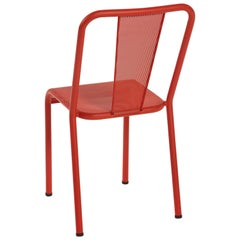 T37 Chair Perforated in Red-Orange by Xavier Pauchard and Tolix