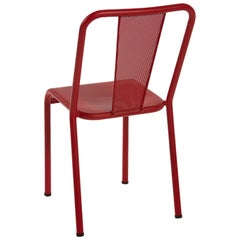 T37 Chair Perforated in True Red by Xavier Pauchard and Tolix