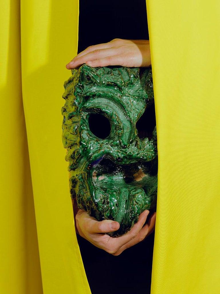 Italian TA RA TA TA, Seminara Ceramic Mask For Sale