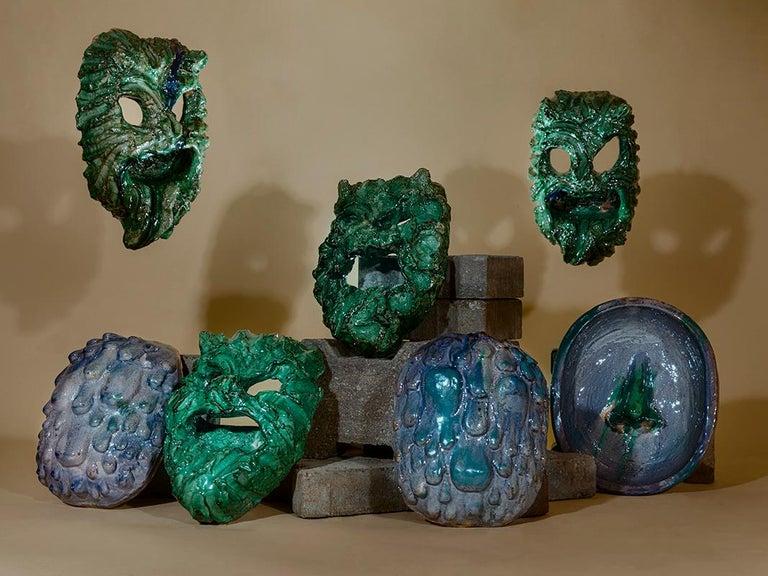 Contemporary TA RA TA TA, Seminara Ceramic Mask For Sale