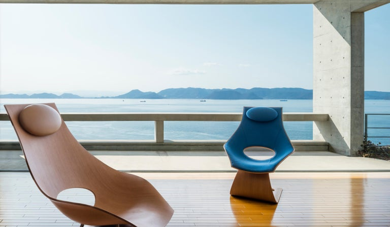 Modern TA001P Dream Chair with Cushion in Oiled Oak by Tadao Ando For Sale