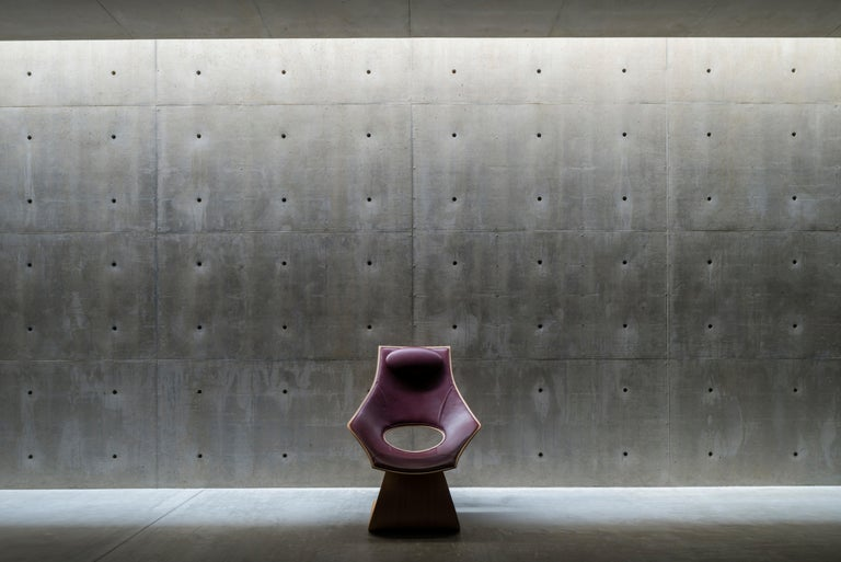 Contemporary TA001P Dream Chair with Cushion in Oiled Oak by Tadao Ando For Sale
