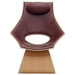 TA001P Dream Chair with Cushion in Oiled Oak by Tadao Ando