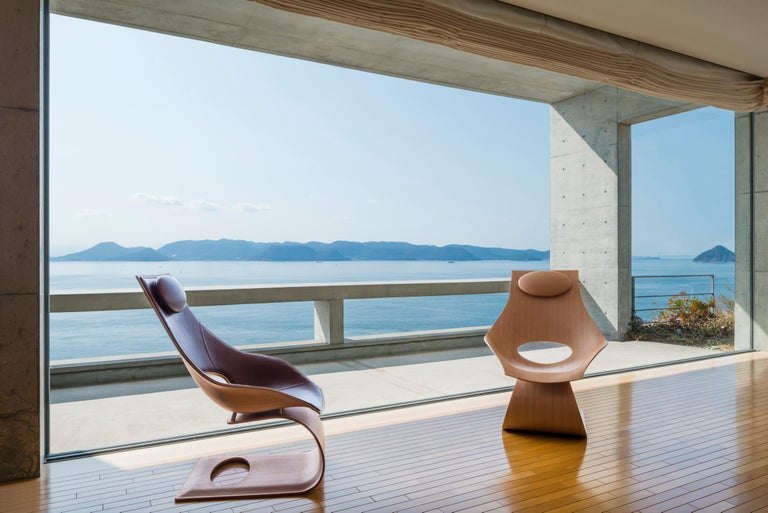 Oiled TA001P Dream Chair with Cushion in Walnut Oil by Tadao Ando For Sale