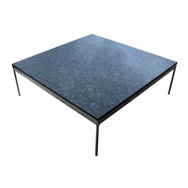 "42"" TA35 Series Granite Stainless Steel Zographos Coffee Table For Sale"