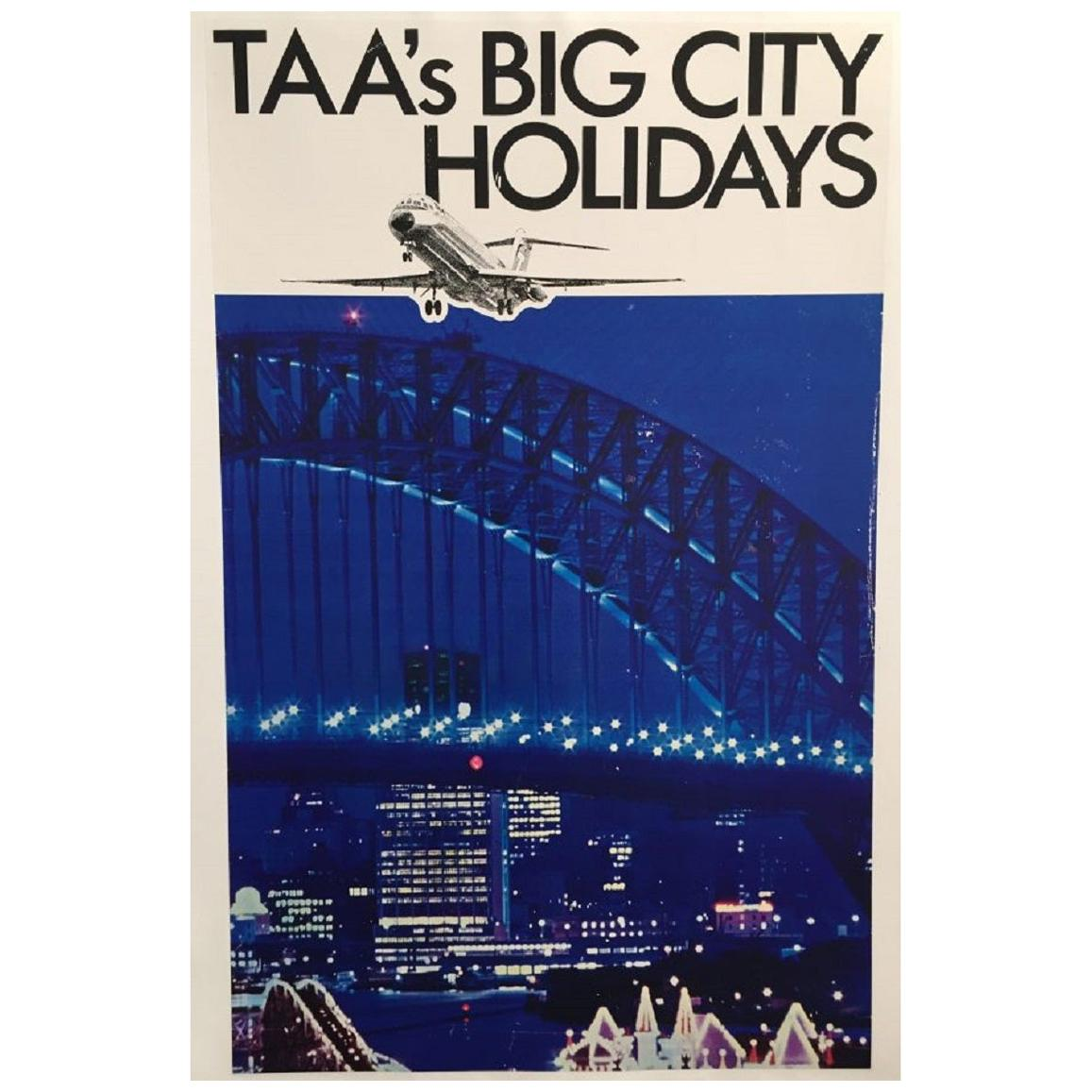 TAA's Big City Holidays Original Vintage Poster