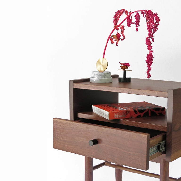 Woodwork Tabasco Night Stand, Contemporary Mexican Design For Sale