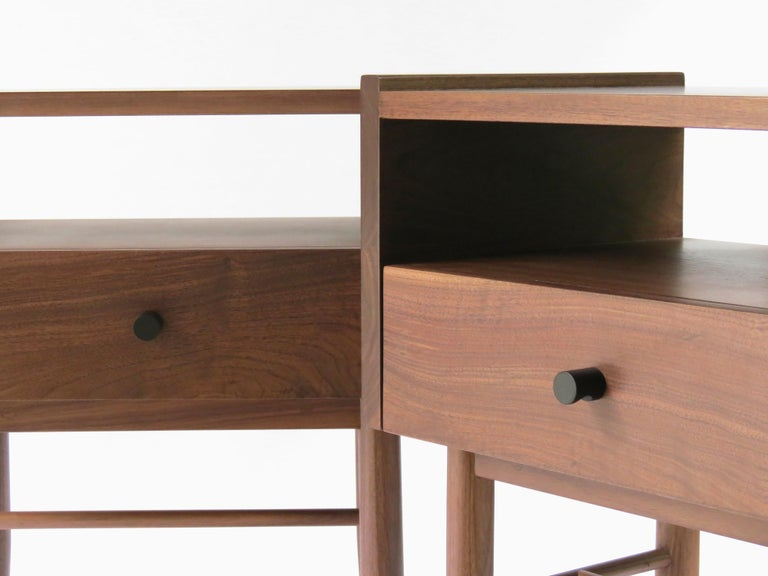 Hardwood Tabasco Night Stand, Contemporary Mexican Design For Sale