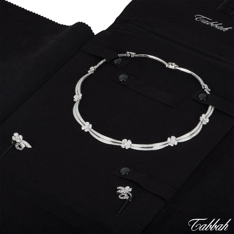 Women's Tabbah Diamond Jewellery Necklace and Earrings Suite 11.51 total carats For Sale