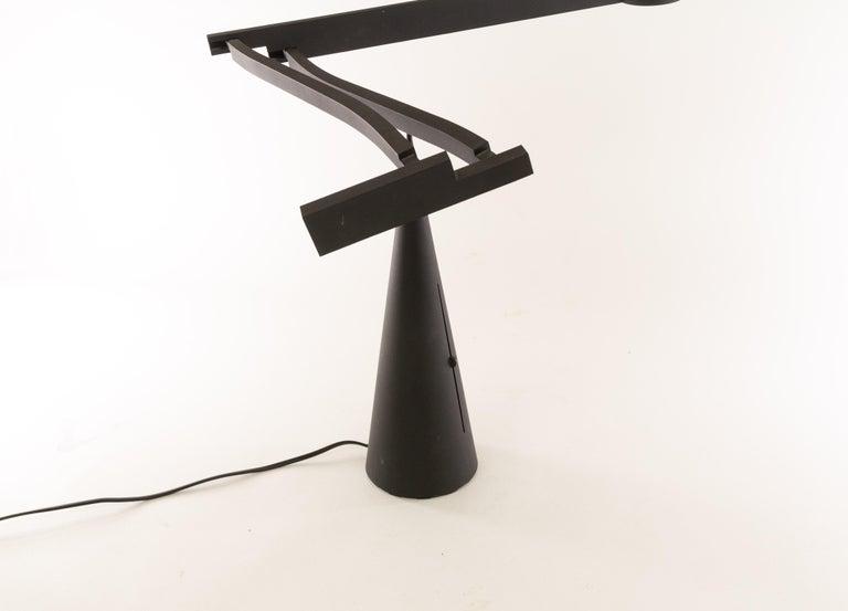 Aluminum Tabla Table Lamp by Mario Barbaglia and Marco Colombo for Italiana Luce, 1980s