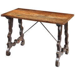 Table, 18th Century, Spanish Baroque, Walnut, Narrow