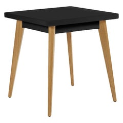 Table 55 in Black with Wooden Legs by Tolix, US
