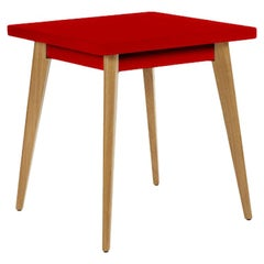 Table 55 in Chili Pepper with Wooden Legs by Tolix, US