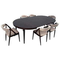 Table and 6 Chairs, Design by Kai Kristiansen, Danish Design, 1960s
