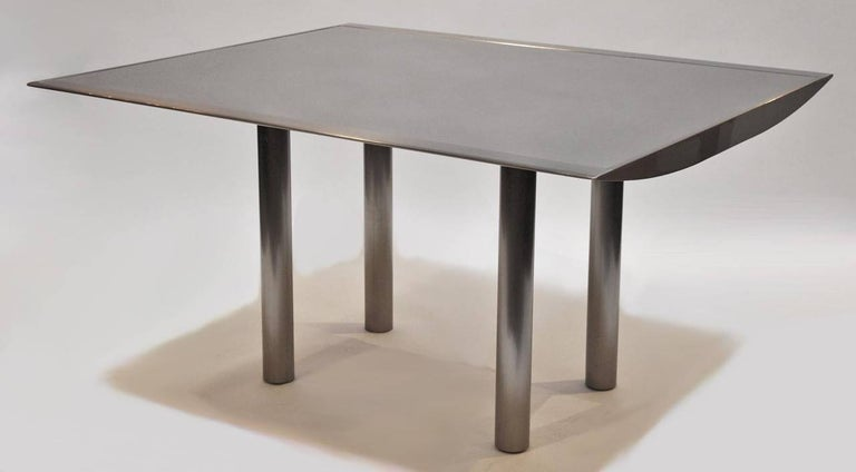 Modern Table and Four Chairs by Stanley Jay Friedman for Brueton For Sale