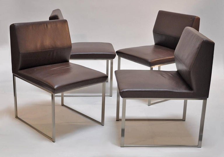 American Table and Four Chairs by Stanley Jay Friedman for Brueton For Sale
