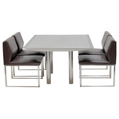 Table and Four Chairs by Stanley Jay Friedman for Brueton