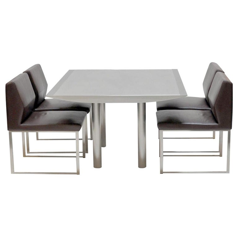 Table and Four Chairs by Stanley Jay Friedman for Brueton For Sale