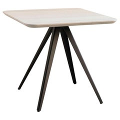 Table Art, Aky Met, Metal Base and Solid Wood by Emilio Nanni