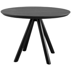 Table Art, Aky, Base and Top in Solid Wood by Emilio Nanni