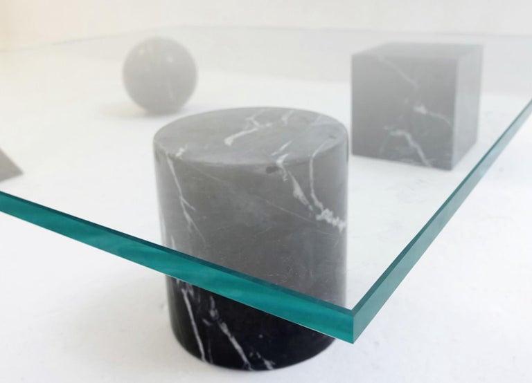 Italian Table Basse 'Metaphora' Massimo & Lella Vignelli En Marbre Et Verre, 1970 For Sale