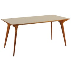 Table, Beech and Formica, Italy 1950s Italian Production