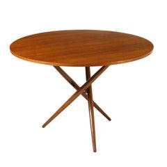Table by Jurg Bally Teak Veneer Stained Beech Vintage Italy, 1960s