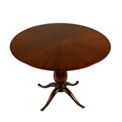 Table by Paolo Buffa Mahogany Manufactured in Italy, 1950s