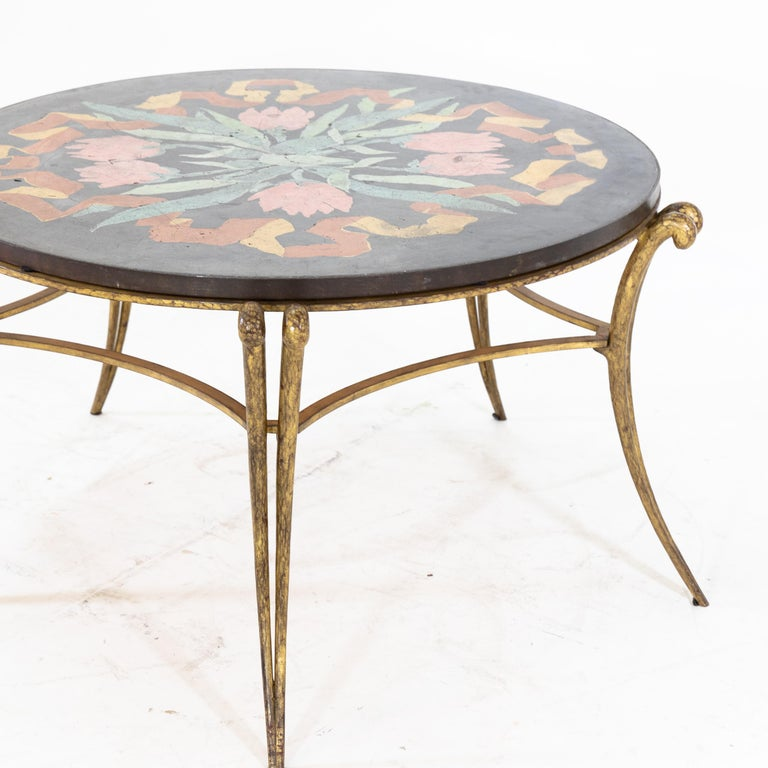 French Table by René Drouet and Ismael De La Serna, France, circa 1938 For Sale