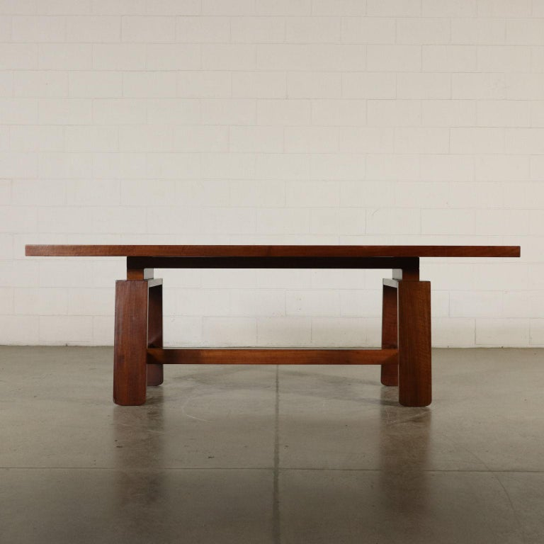 Table by Silvio Coppola Solid Wood Vintage Italy, 1960s-1970s For Sale 8