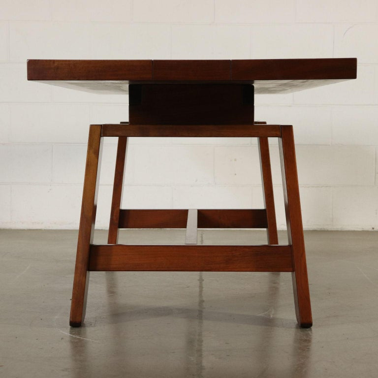Mid-Century Modern Table by Silvio Coppola Solid Wood Vintage Italy, 1960s-1970s For Sale